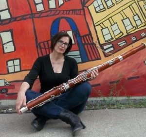 Karen and her bassoon